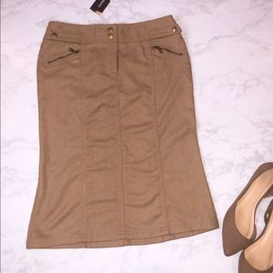 🆕 Express Tan Khaki Wool Pencil Skirt